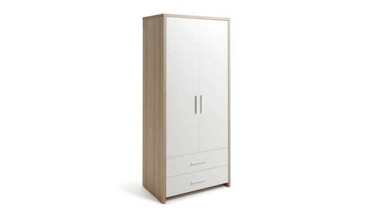 Argos Home Broadway 2 Door 2 Drawer Wardrobe - Oak & White
