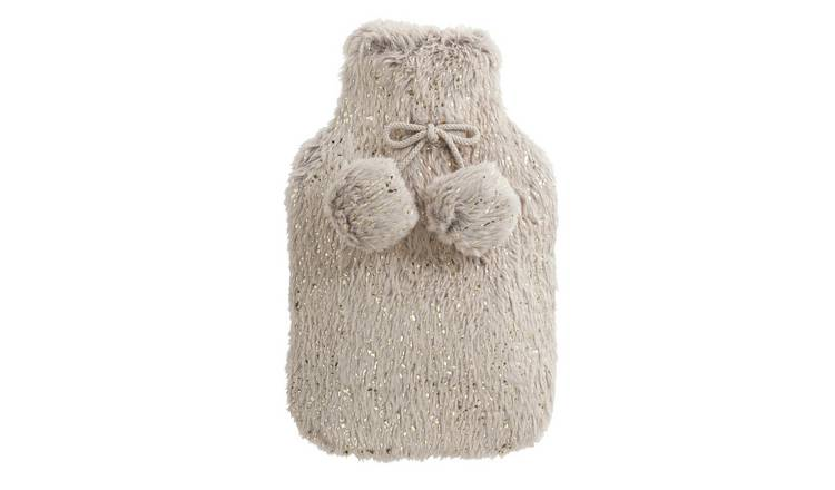 Wellbeing Faux Fur Hot Water Bottle - 1.5L