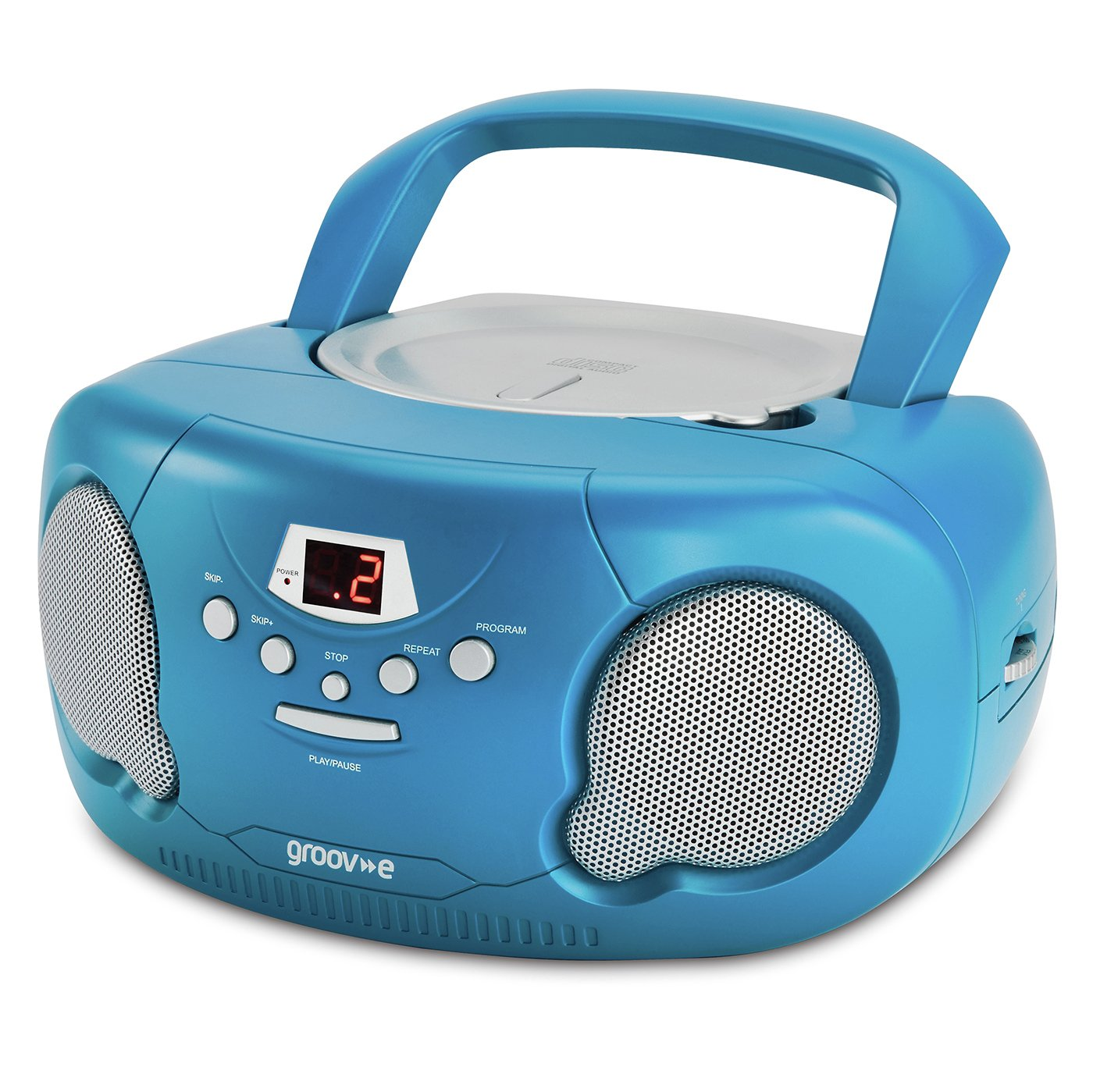 Groov-e Boombox CD Player with Radio - Blue