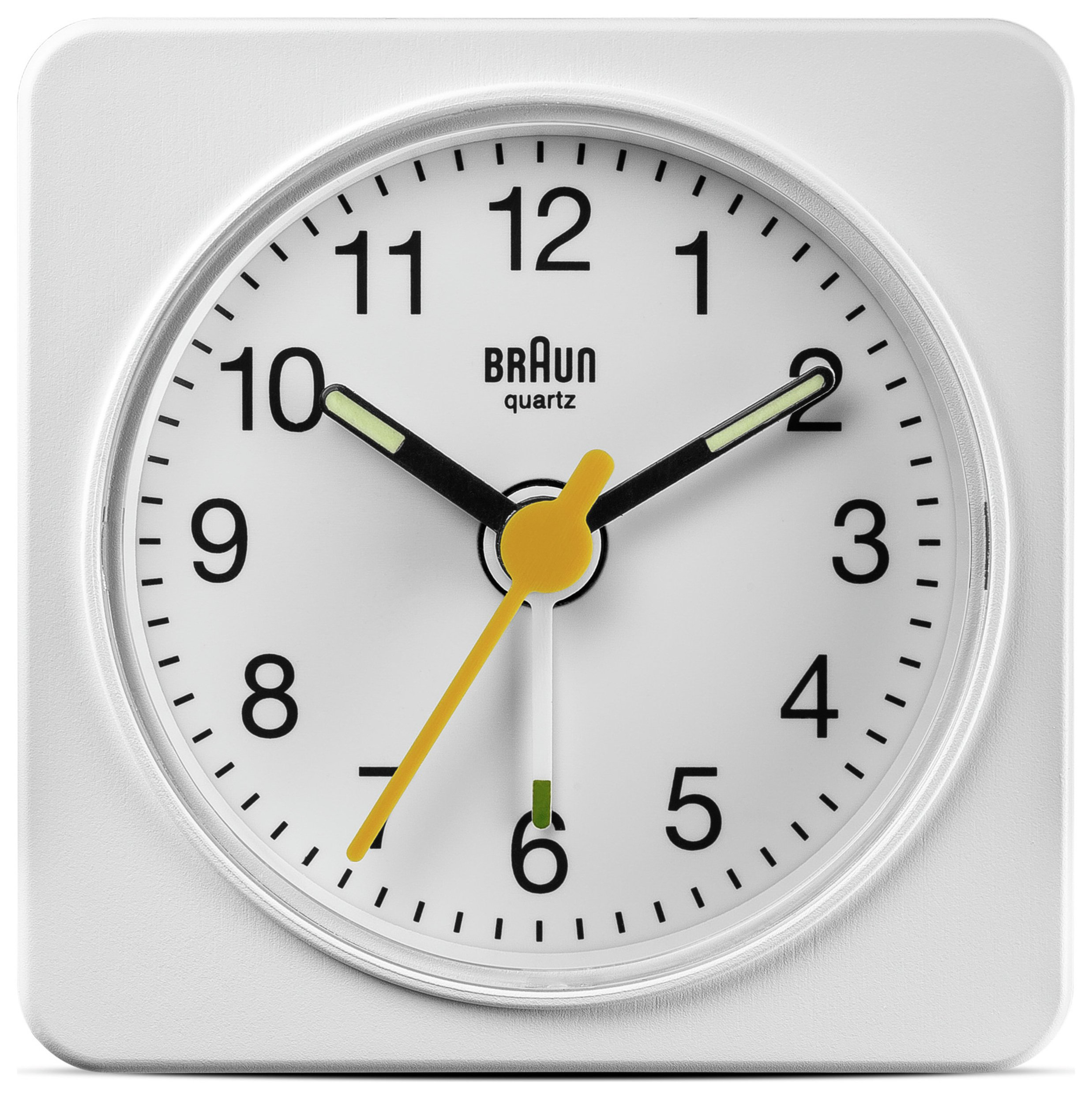 Image of Braun Travel Alarm Clock - White