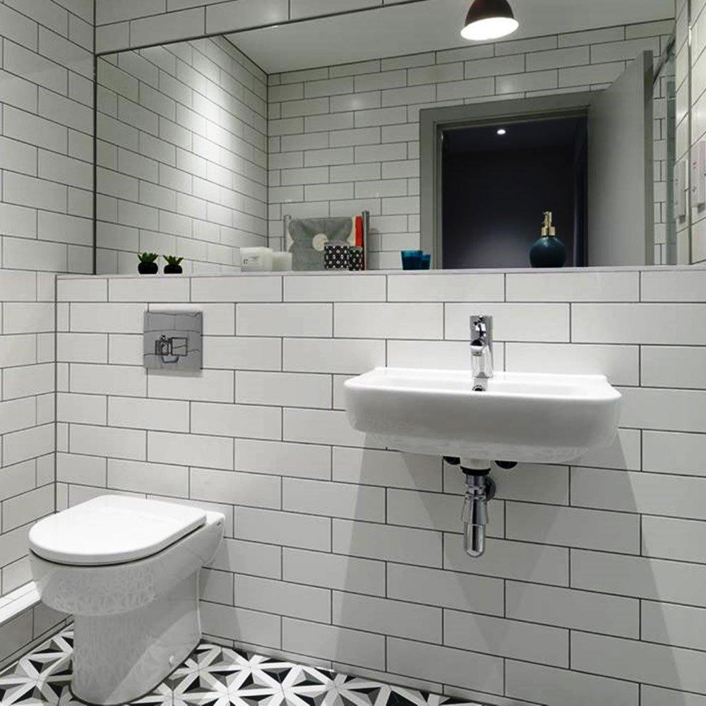 White Ceramic Wall Tile - Gloss Finish