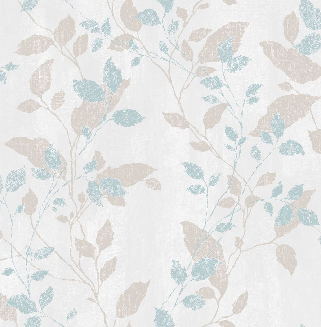 Image of Graham & Brown Boutique Vermeil Leaf Wallpaper Duck Egg