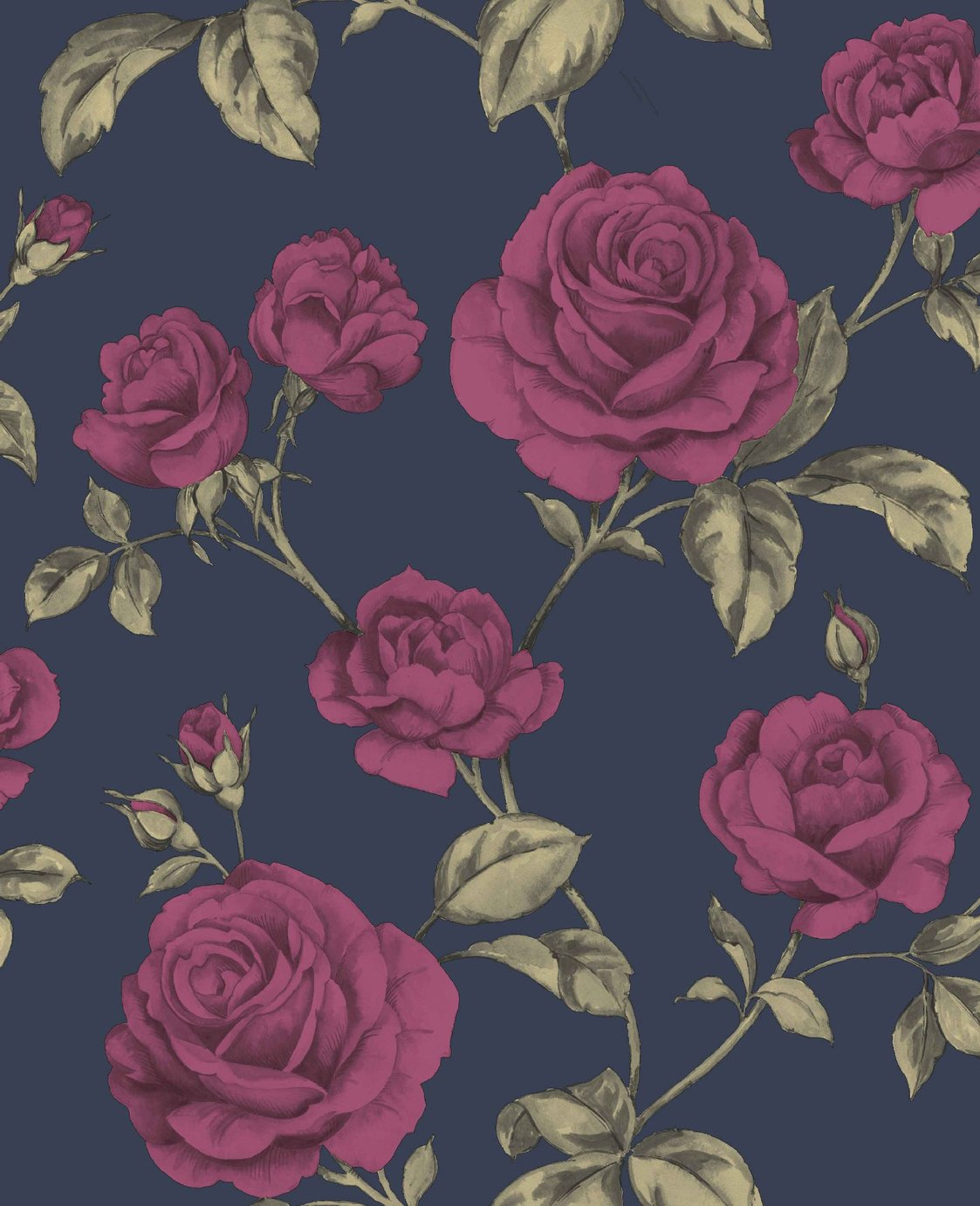 Image of Graham & Brown Boutique Countess Wallpaper Navy