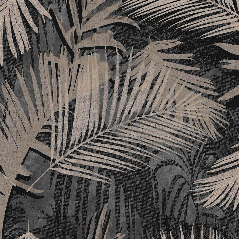 Image of Graham & Brown Boutique Jungle Glam Wallpaper Black Gold
