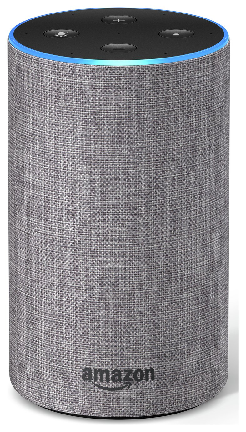 Image of All-new Amazon Echo (2nd generation) - Heather Grey Fabric