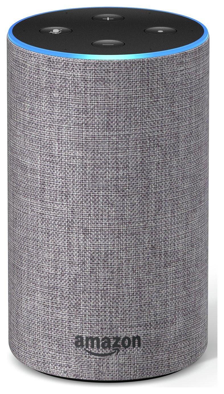 All-new Amazon Echo (2nd generation) - Heather Grey Fabric
