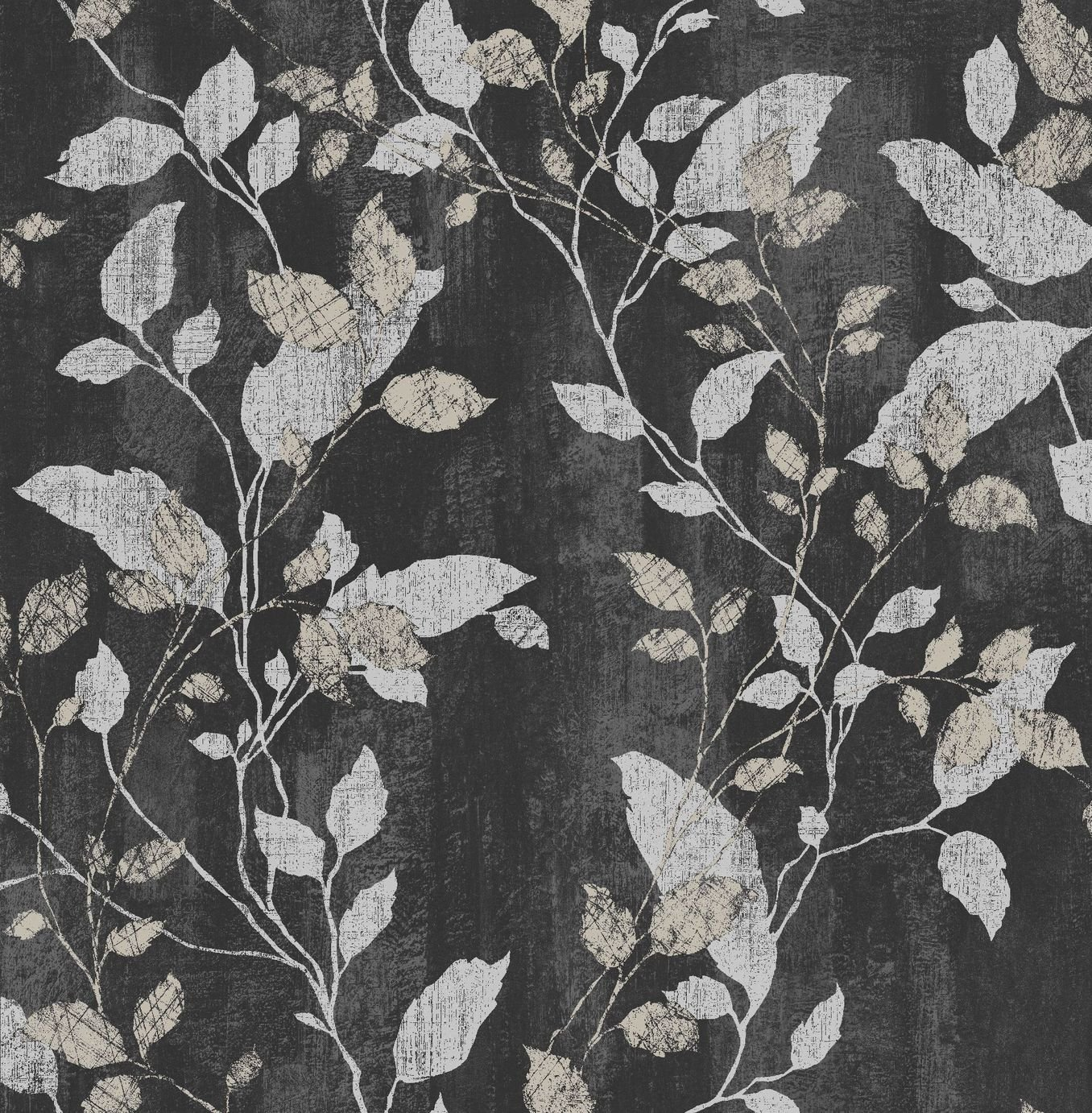 Image of Graham & Brown Boutique Vermeil Wallpaper Charcoal Copper