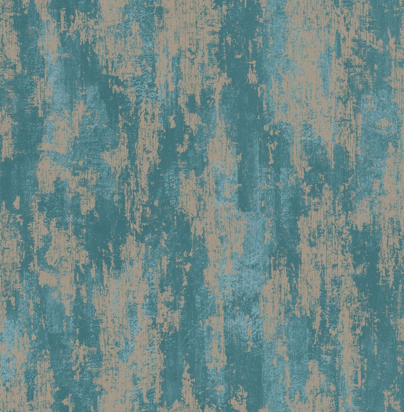 Image of Boutique Industrial Texture Wallpaper Turquoise