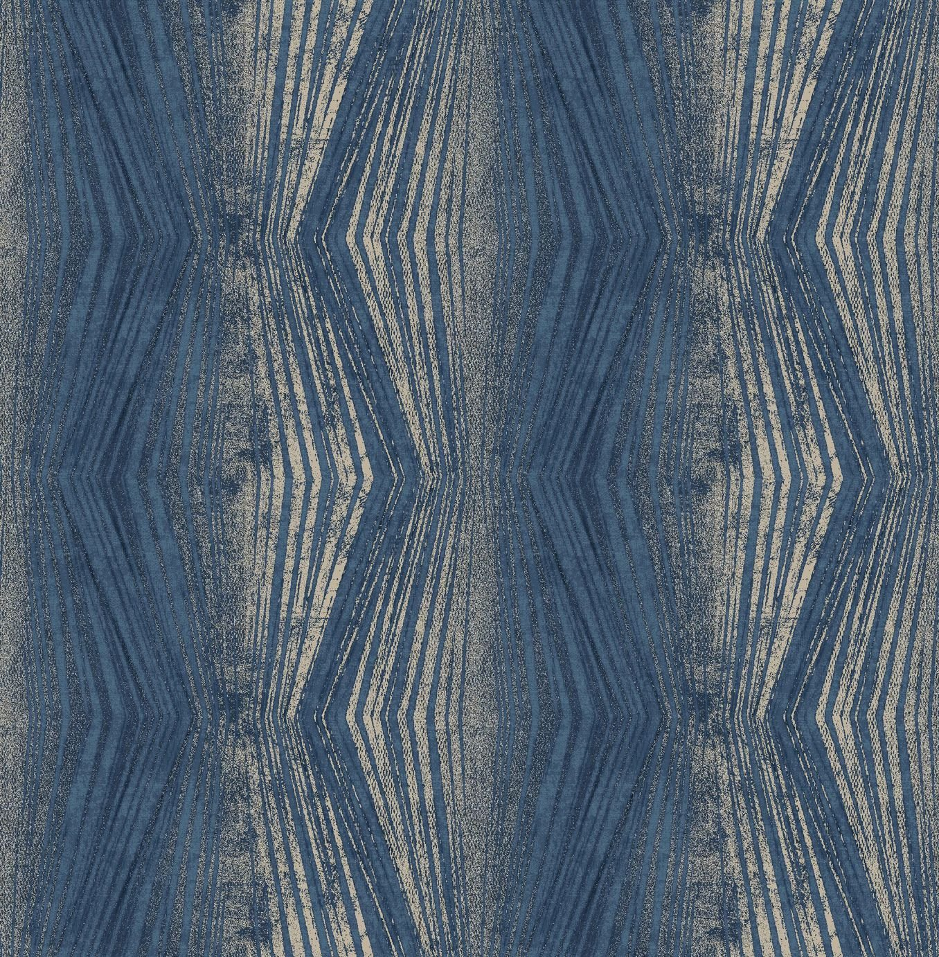 Image of Graham & Brown Boutique Vermeil Stripe Wallpaper Blue