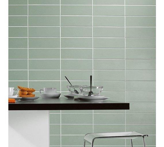 buy ceramic wall tile sage green tiles argos