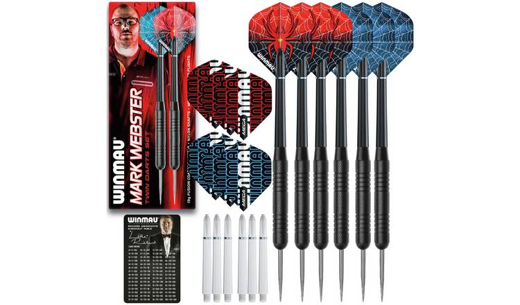 Winmau Mark Webster 19g Steel Pack of 2 Darts Sets