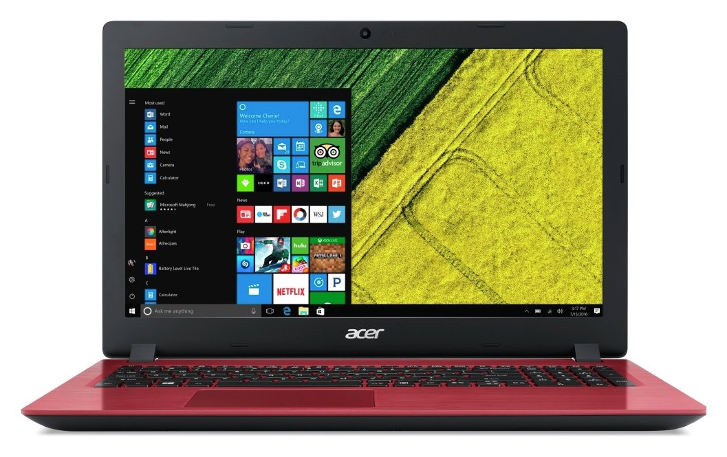 Image of Acer 15.6 Inch i3 8GB 1TB Laptop - Red