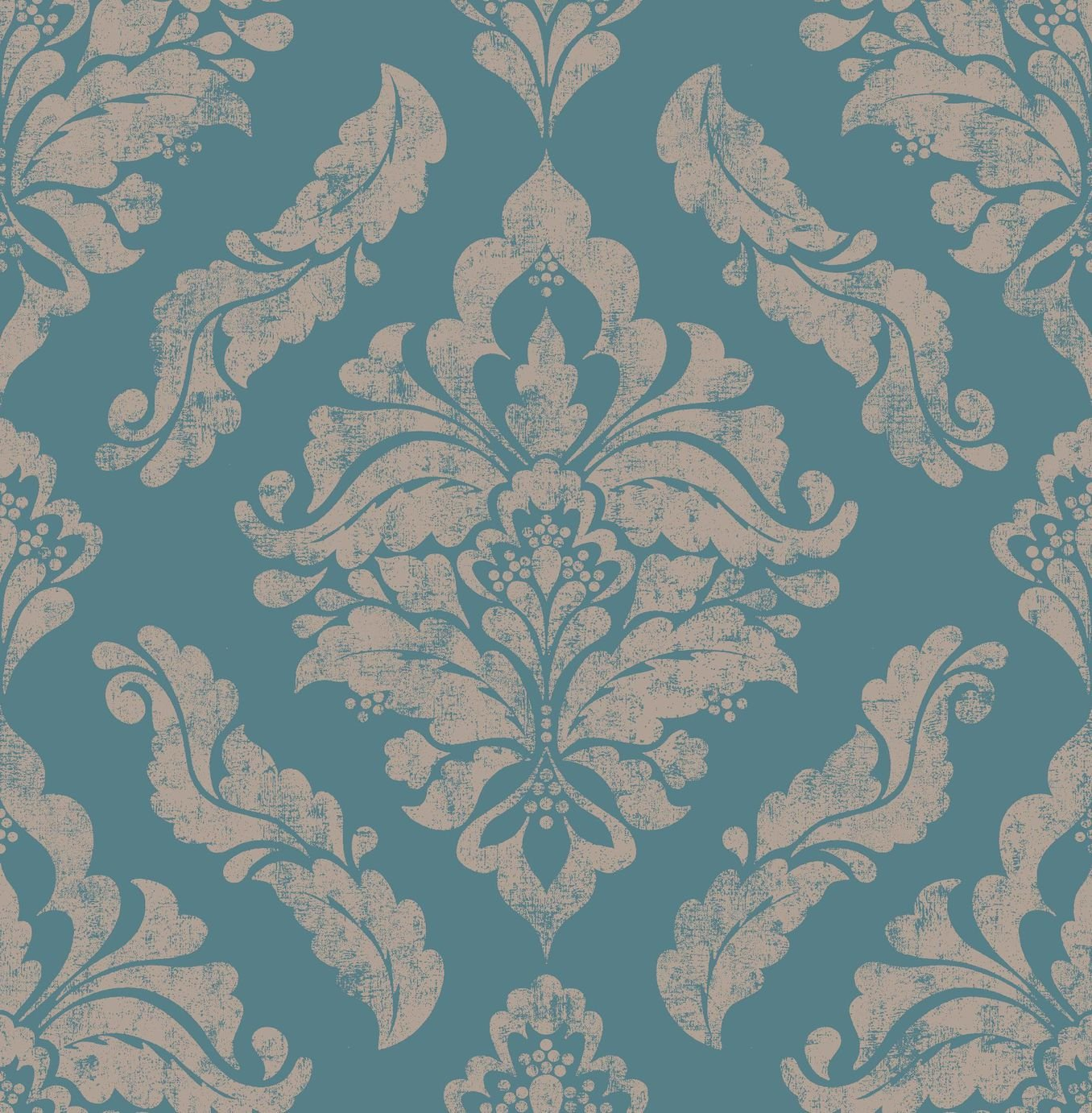 Image of Graham & Brown Boutique Damaris Wallpaper Turquoise
