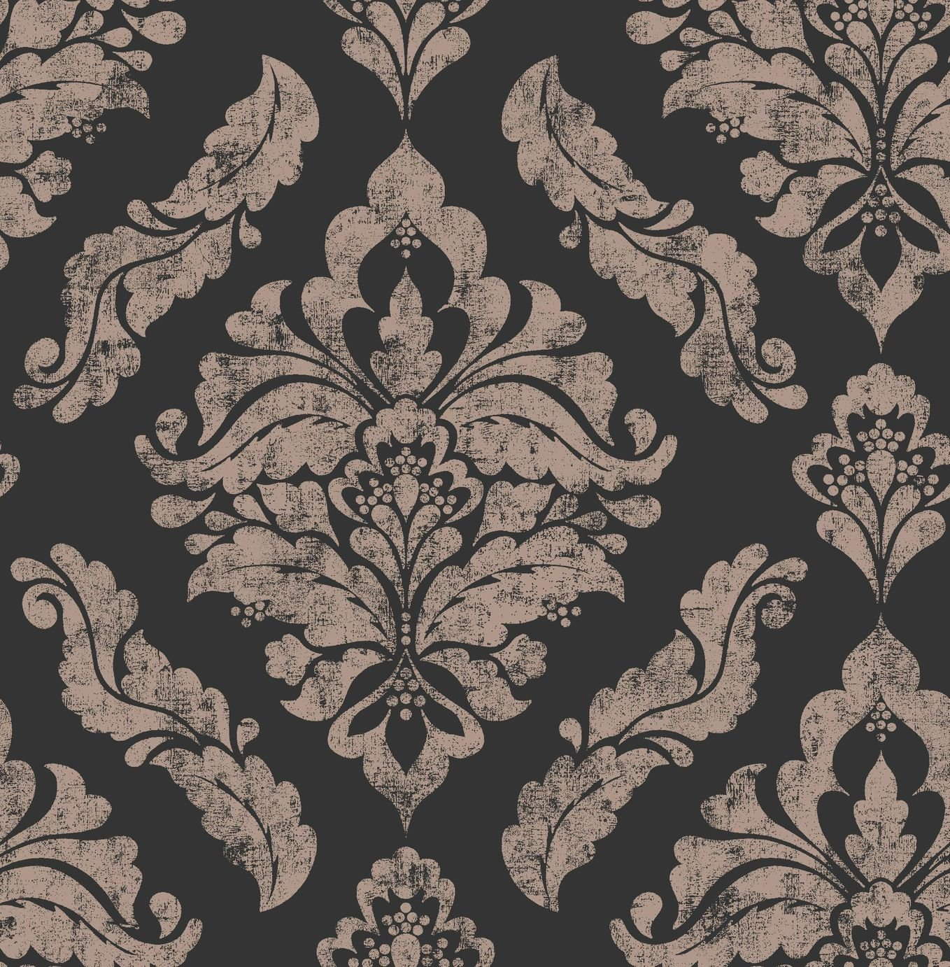 Image of Graham & Brown Boutique Damaris Wallpaper Black