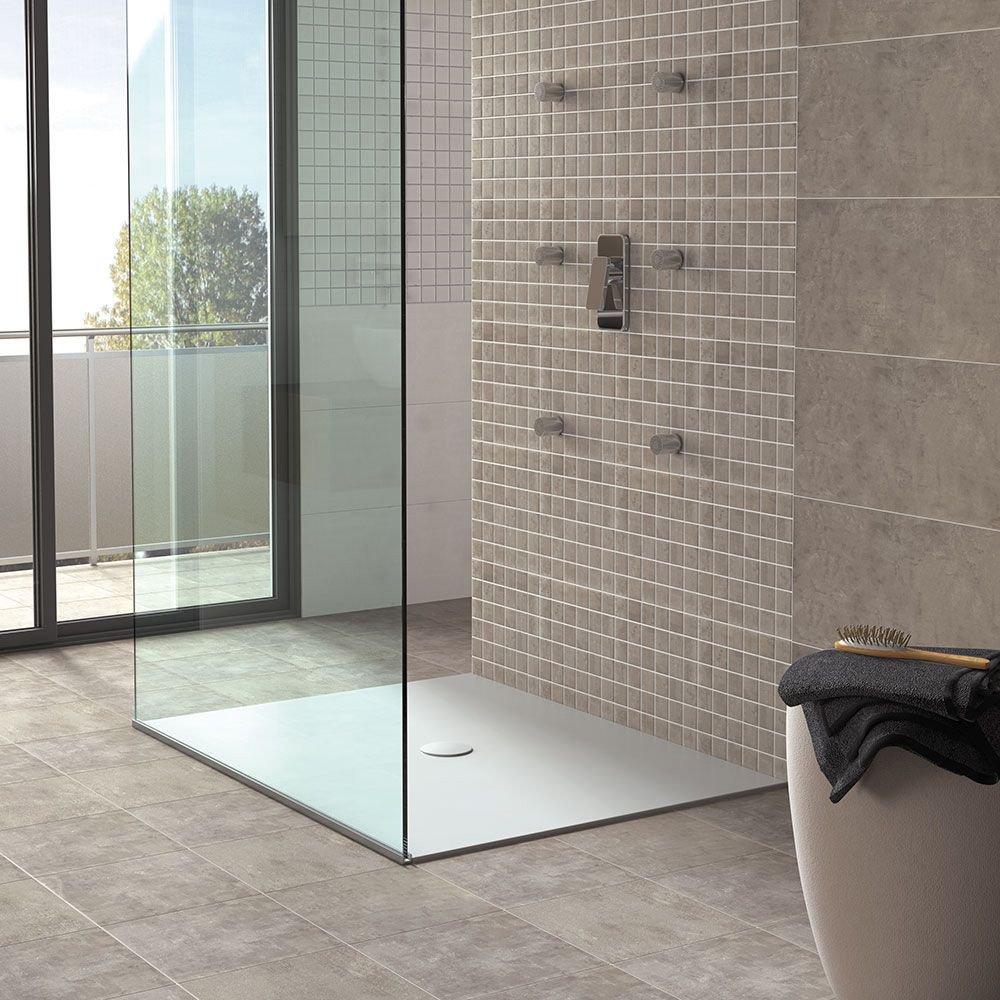 Porcelain Concrete Effect Floor Tile - Matt Grey