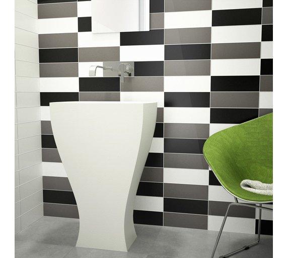 Buy Ceramic Wall Tile Black Gloss Tiles Argos