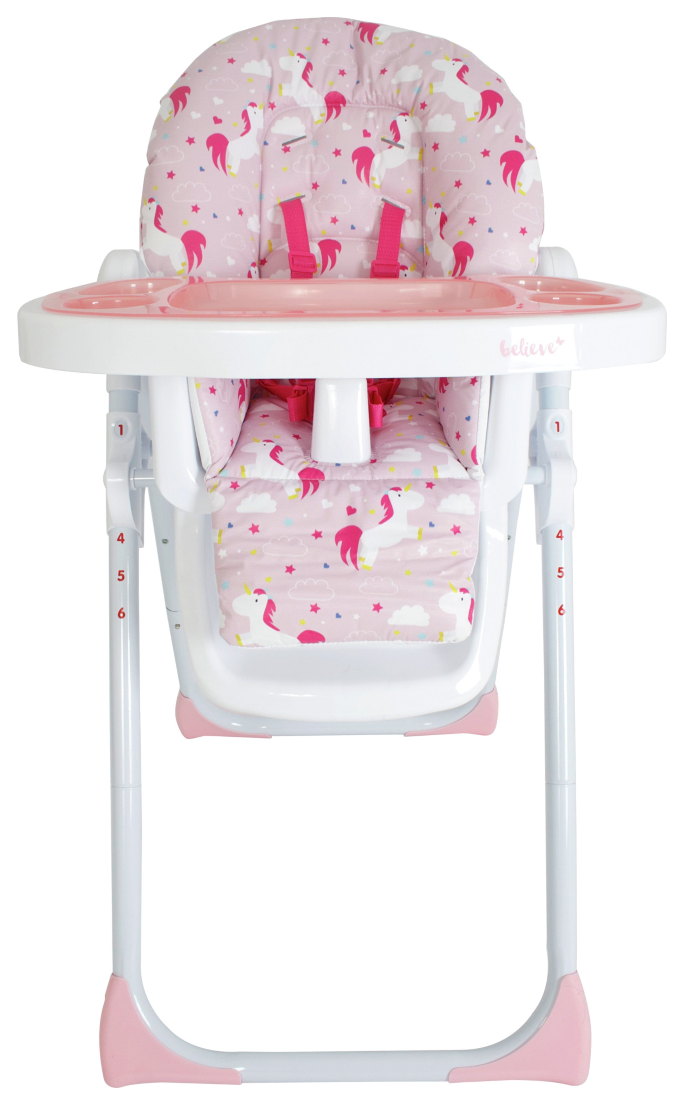 Image of My Babiie MBHC8 Katie Piper Highchair - Unicorns
