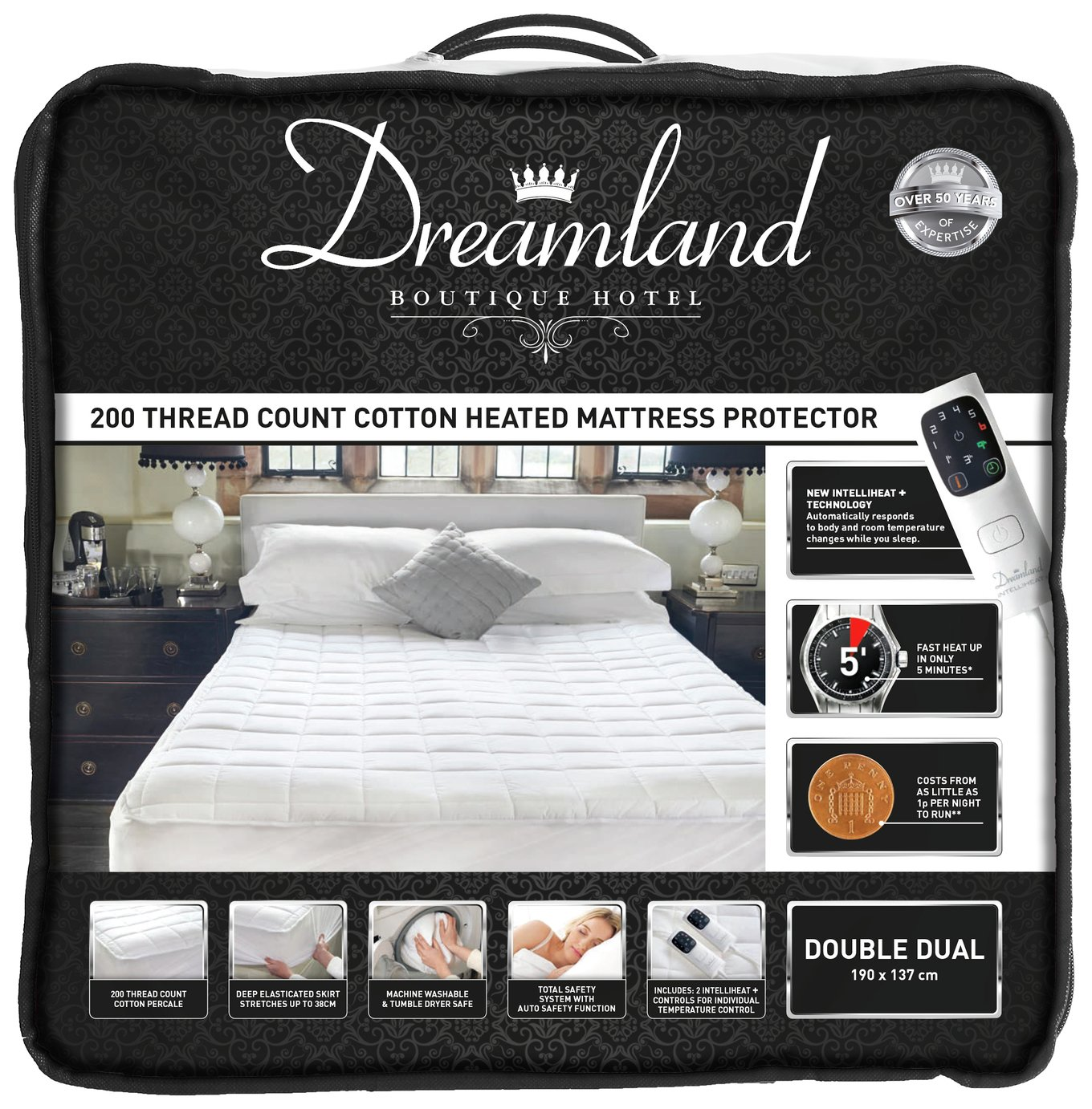 Dreamland Boutique Dual Control Electric Blanket - Double
