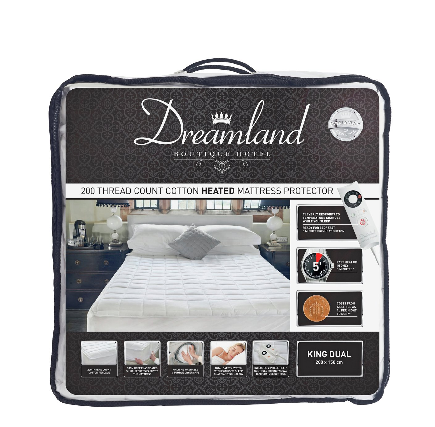 Dreamland Boutique Dual Control Electric Blanket - Kingsize