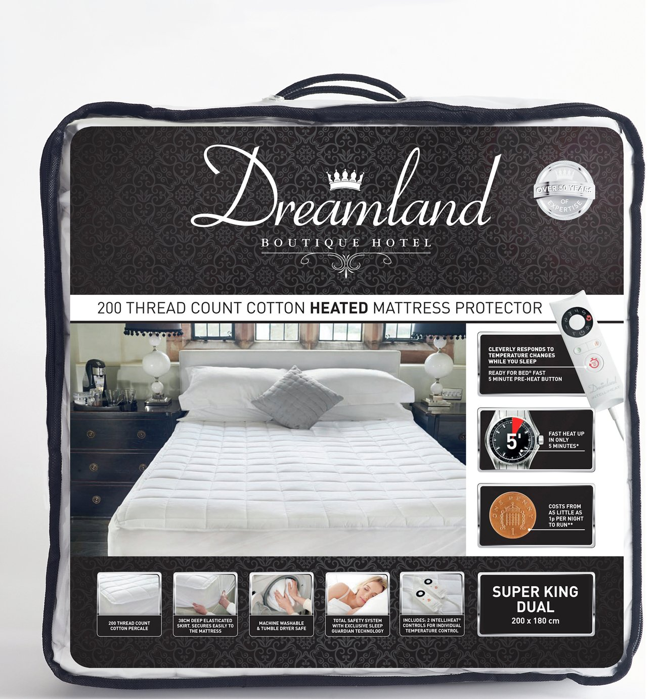 Image of Dreamland Boutique Dual Control Electric Blanket - Superking