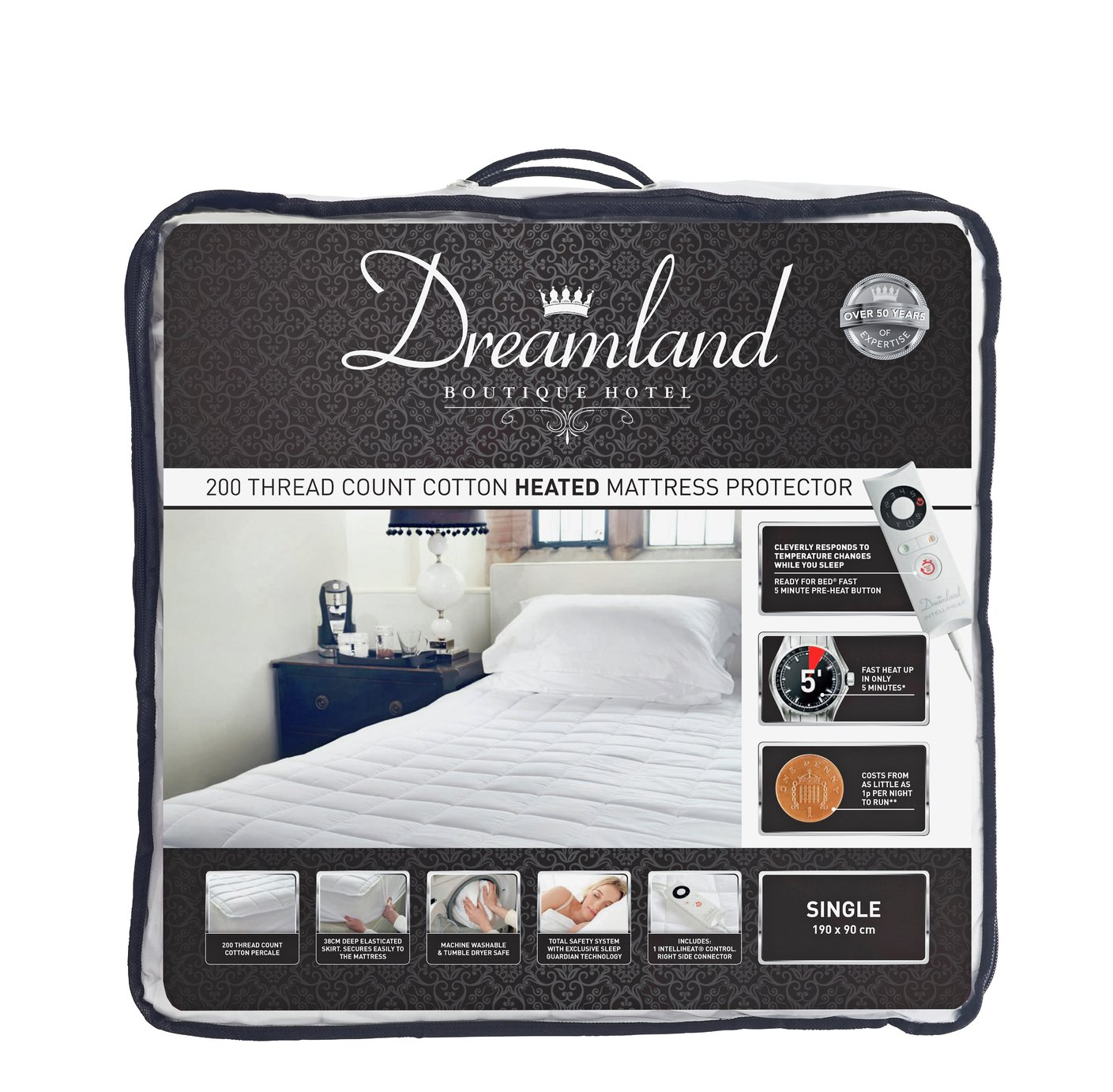 Dreamland Boutique Single Control Electric Blanket - Single