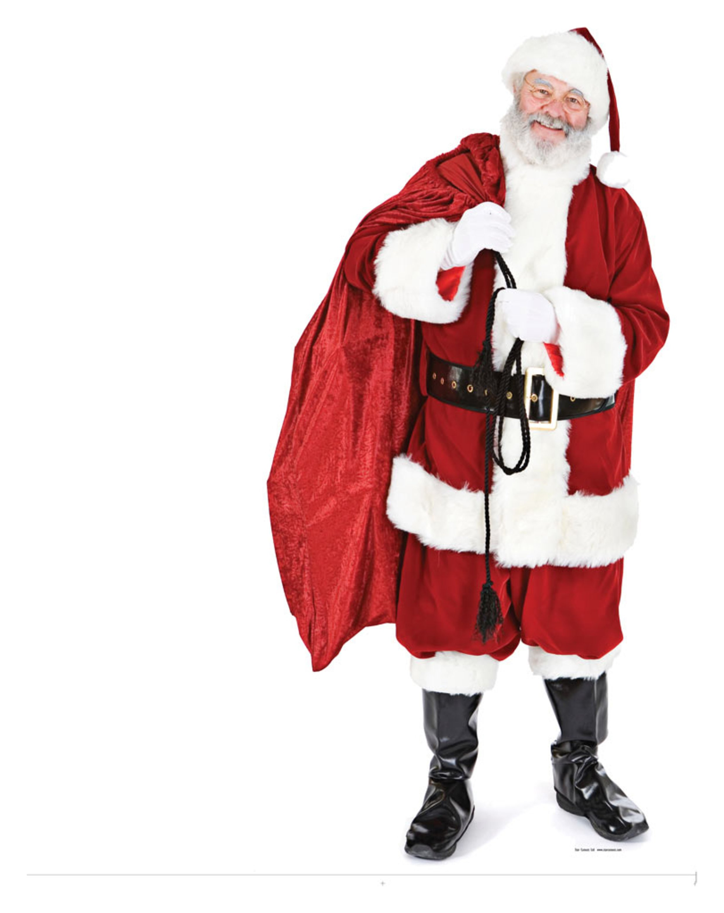 Image of Star Cutouts Santa with a Sack of Toys