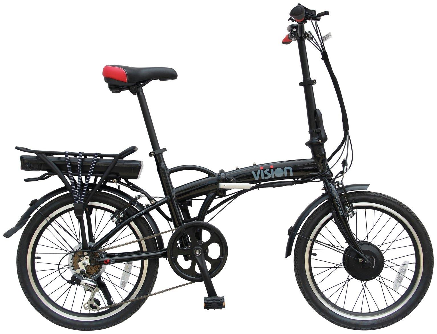 SALE on Viking Vision Folding Electric Bike - Black