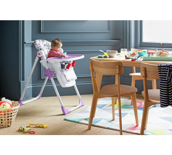 Cuggl Plum Deluxe Highchair Easy To Fold For Compact Storage Or Travel NEW/_UK