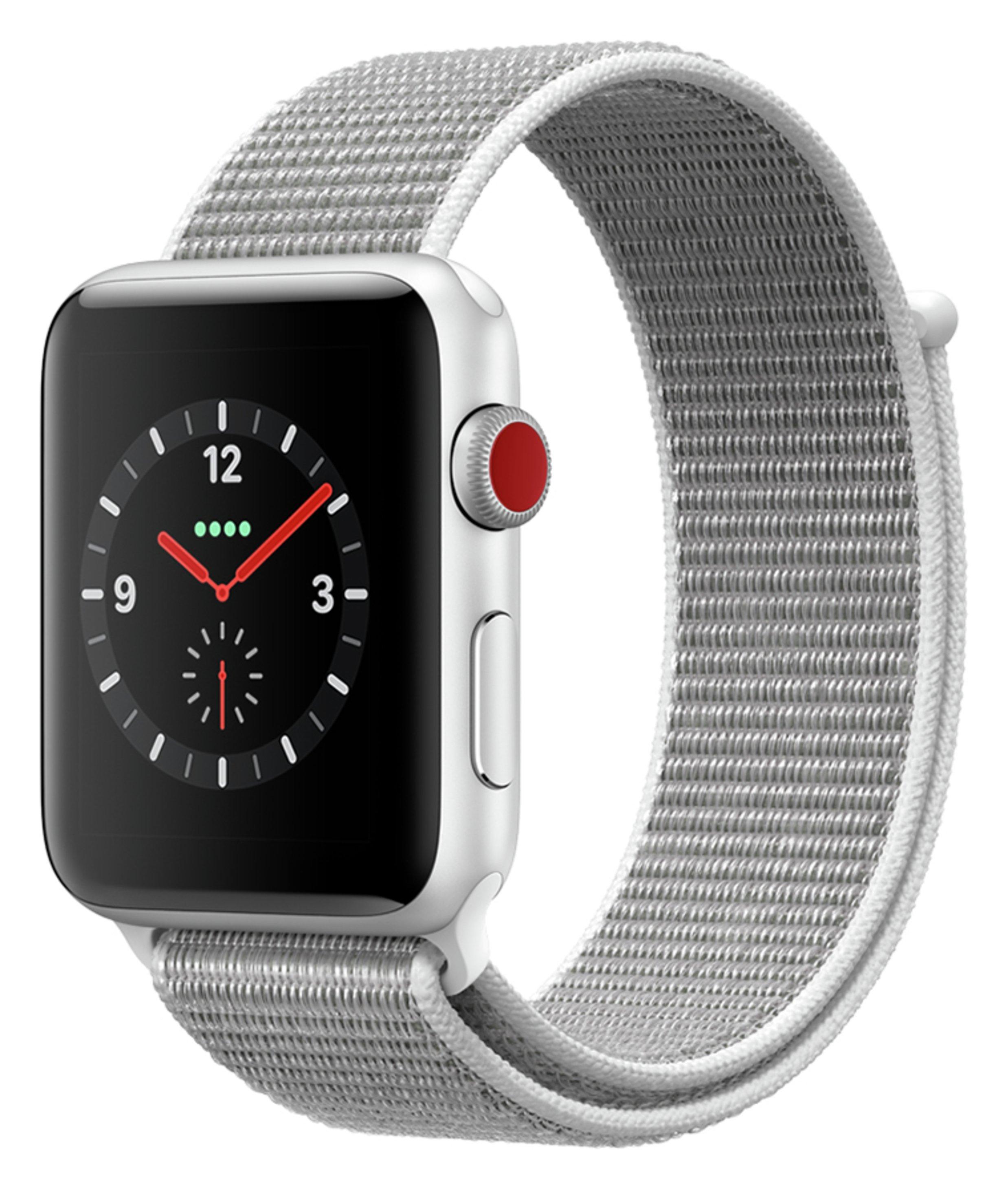 Apple Watch S3 Cellular 42mm - Silver Alu / Seashell Loop