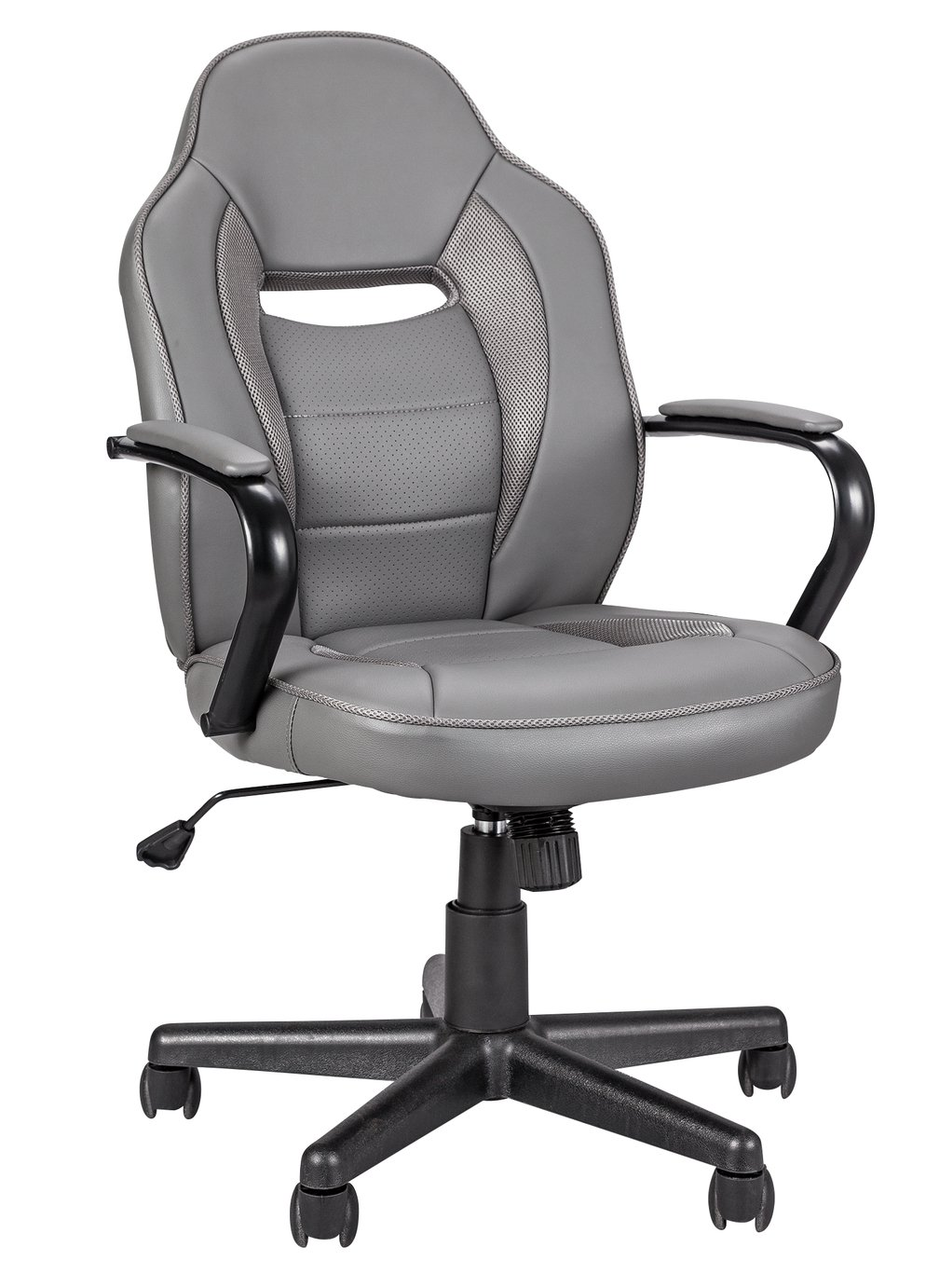 Argos Home Faux Leather Gaming Chair - Grey