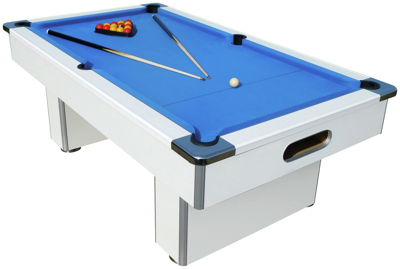 Mightymast Leisure Mightymast 7ft Speedster Slate Bed White Pool Table