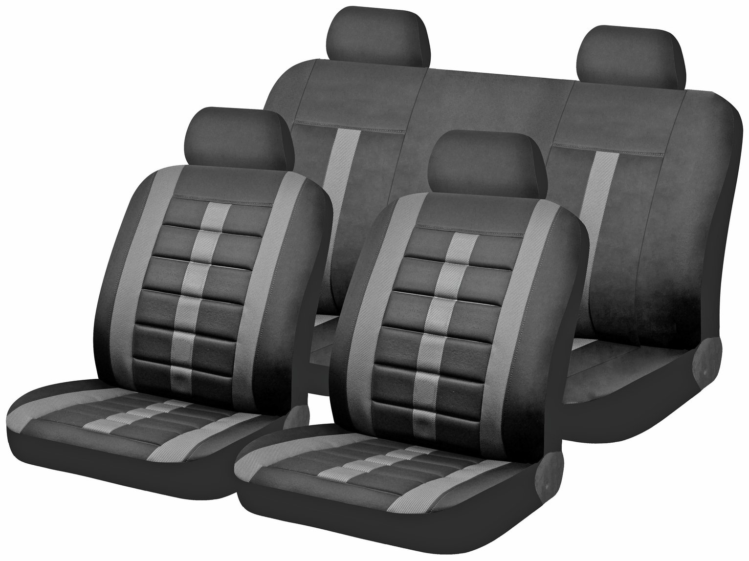 Lumbar Foam Support Car Seat Covers - Black
