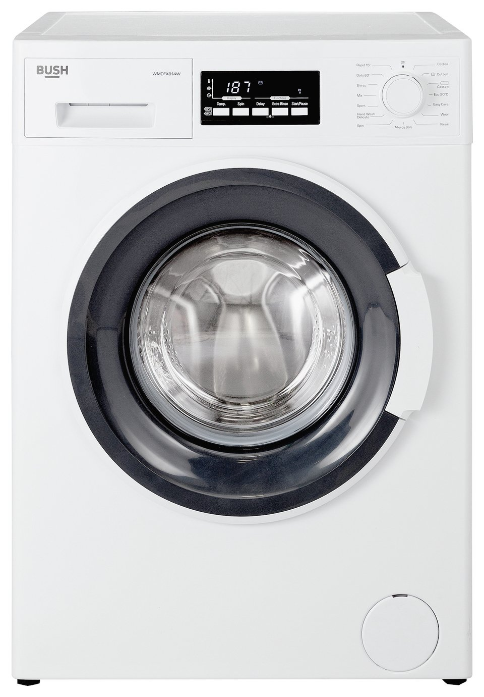 Image of Bush WMDFX814W 8KG Washing Machine - White + Installation