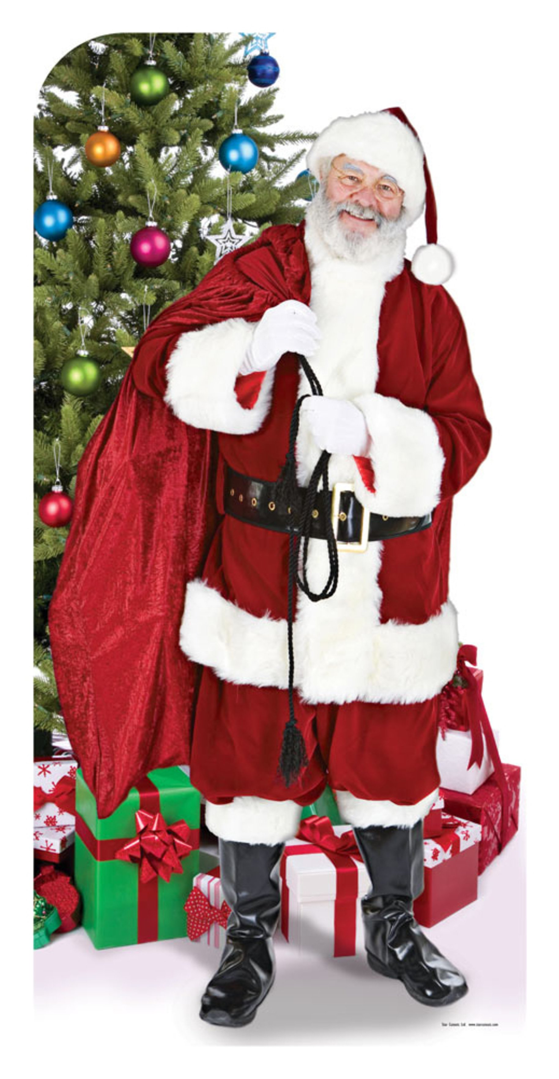Image of Star Cutouts Father Christmas Stand In