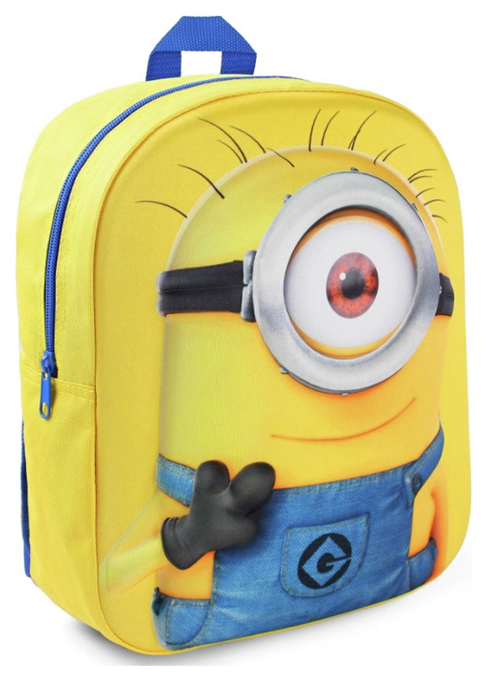 Minions Carl Embossed Backpack - Yellow