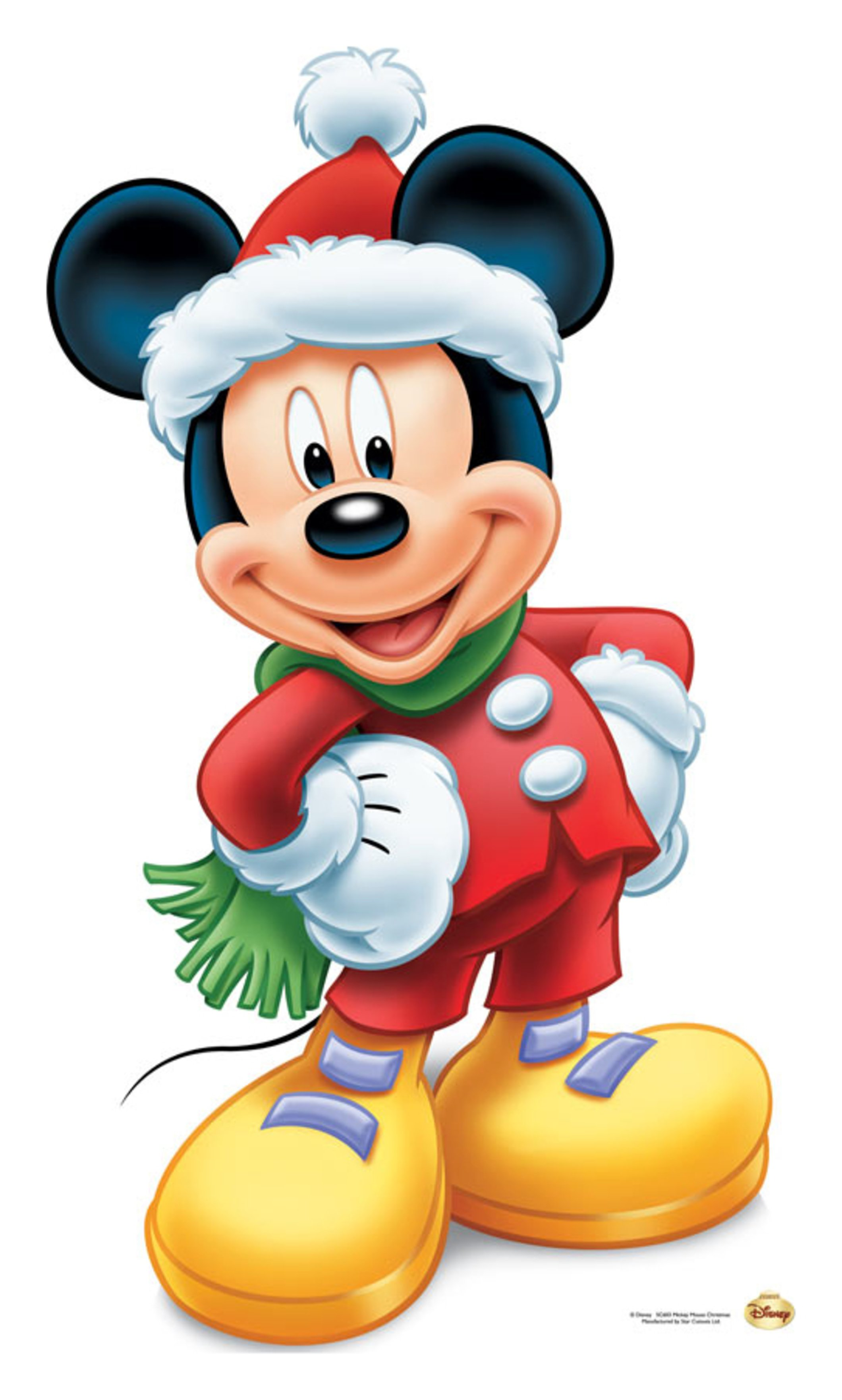 Image of Star Cutouts Mickey Mouse Christmas Star Mini Cutout