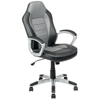 HOME Racing Style Gaming Chair - Black & Grey