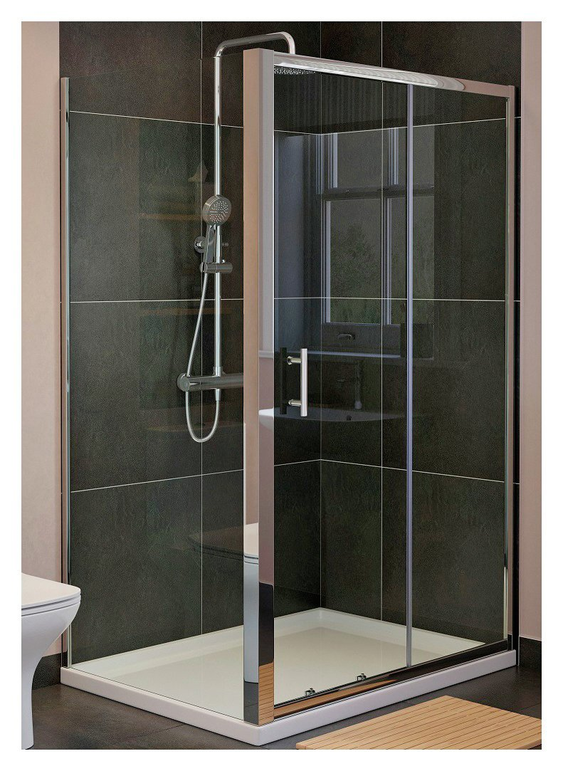 Lavari 1000mm Sliding Shower Enclosure