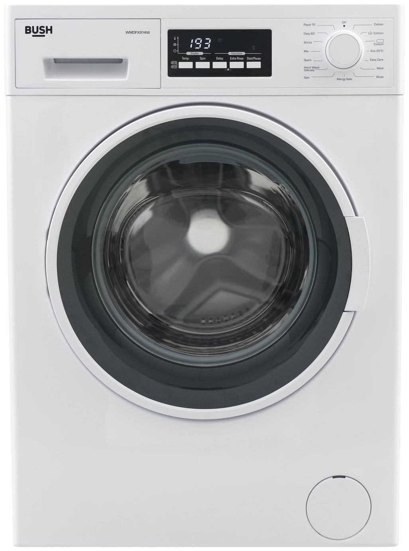 Image of Bush WMDFX914W 9KG Washing Machine - White + Installation