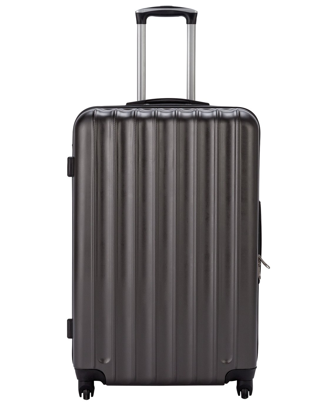 Large 4 Wheel Hard Suitcase - Charcoal