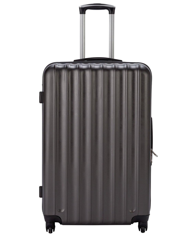 Large 4 Wheel Hard Suitcase - Charcoal