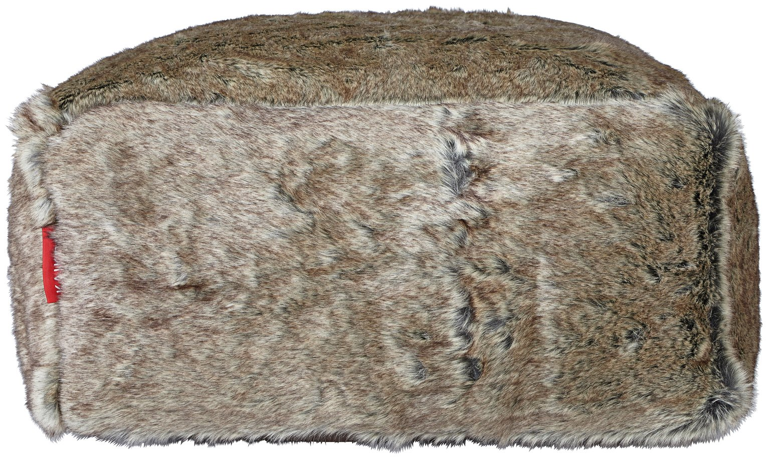 Argos Home Faux Fur Slab Beanbag - Chocolate
