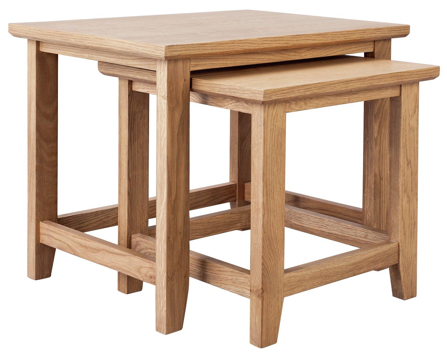 Argos Home Islington Nest of 2 Oak Veneer Tables