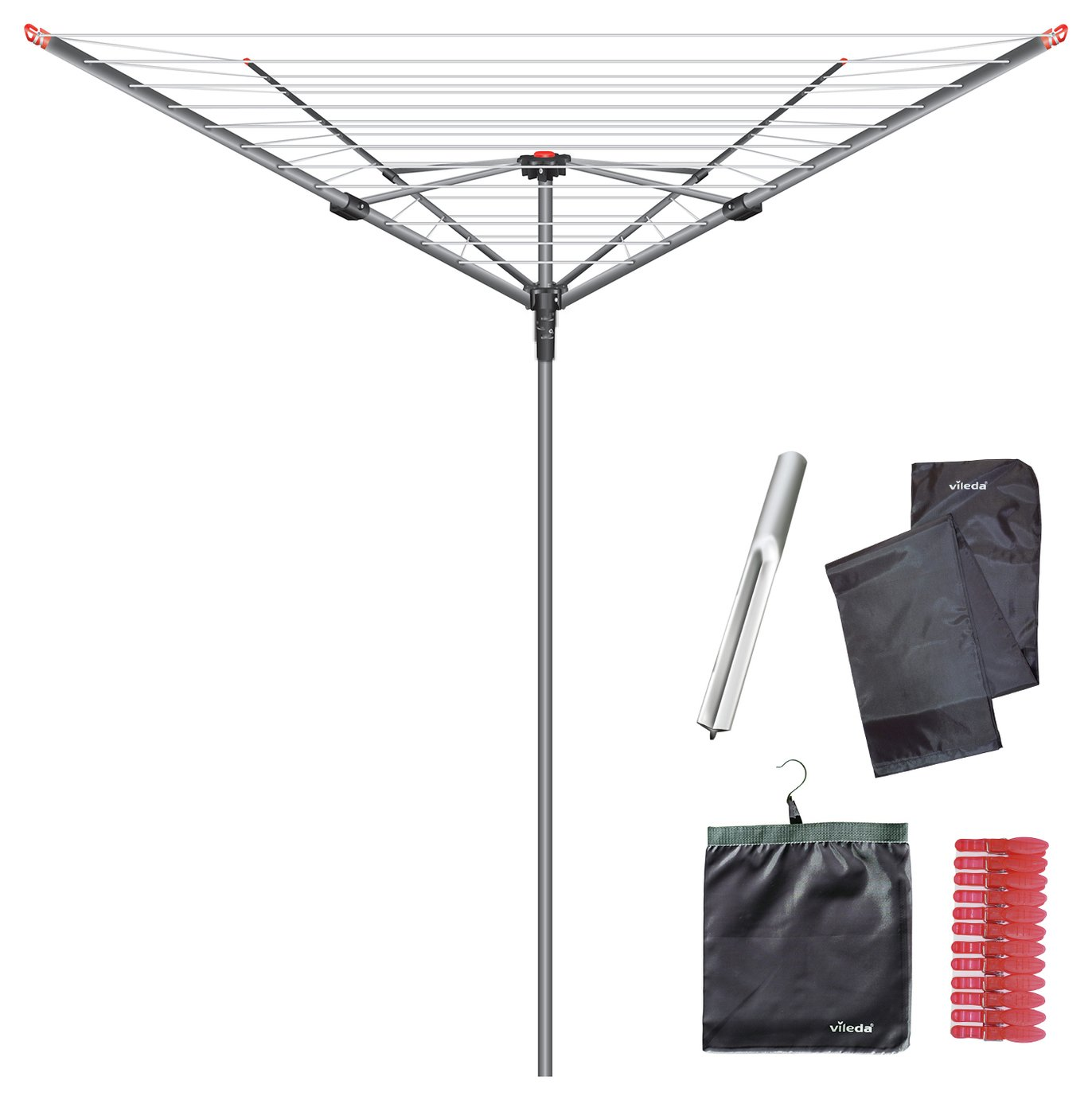 Vileda 60m 4 Arm Rotary Outdoor Washing Line review