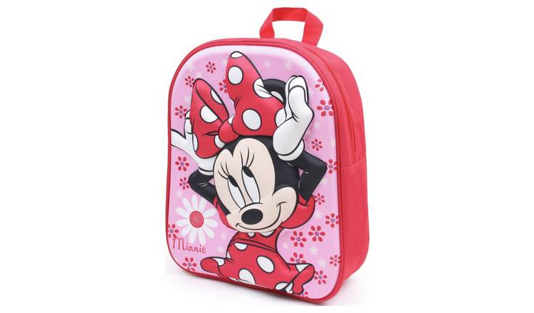 e03035feab9b Buy Disney Minnie Mouse Flowers 3D Moulded Backpack - Red