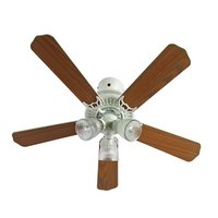 Collection Boston Ceiling Fan - White and Oak Effect