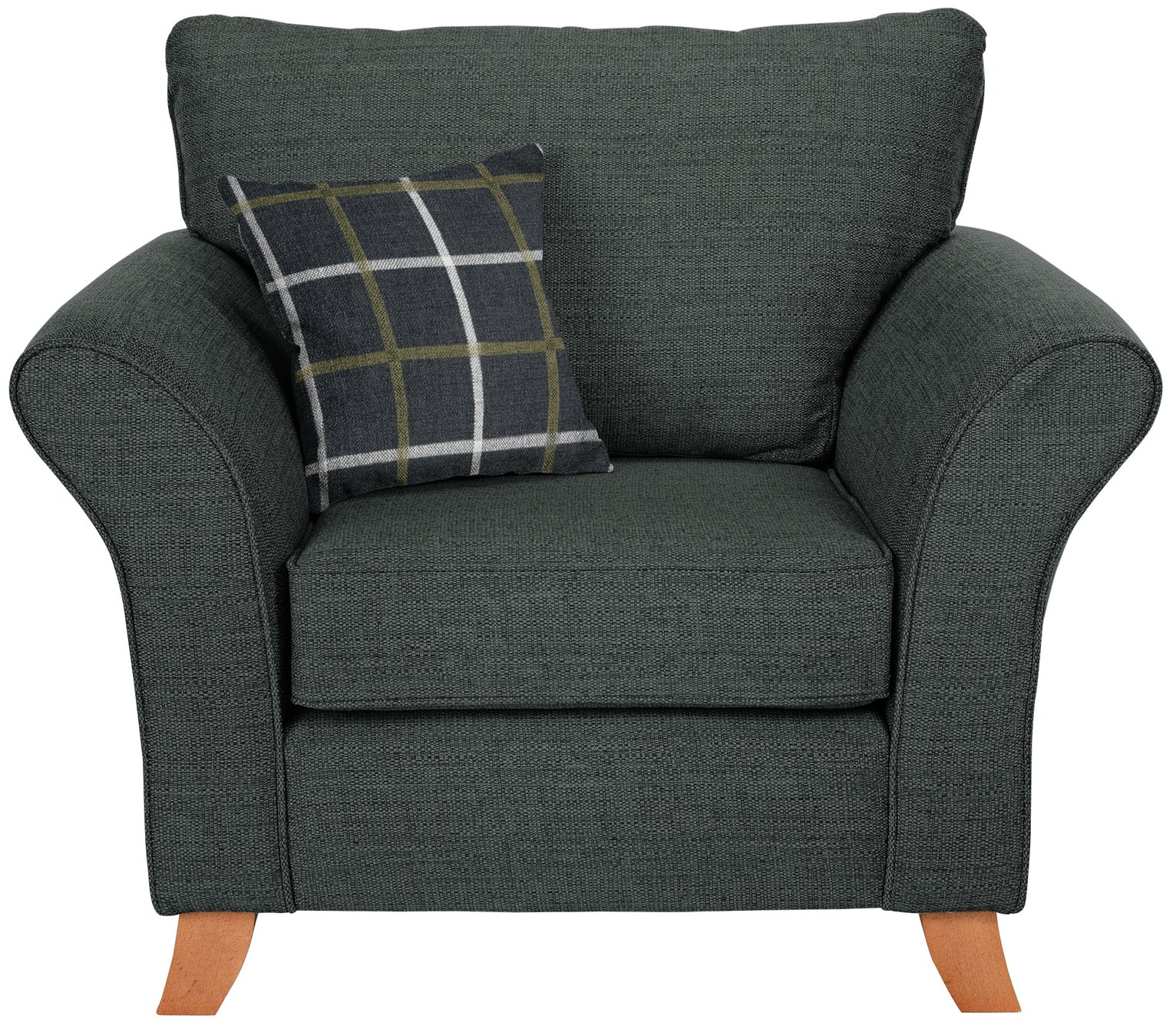Argos Home Kayla Fabric Armchair - Charcoal