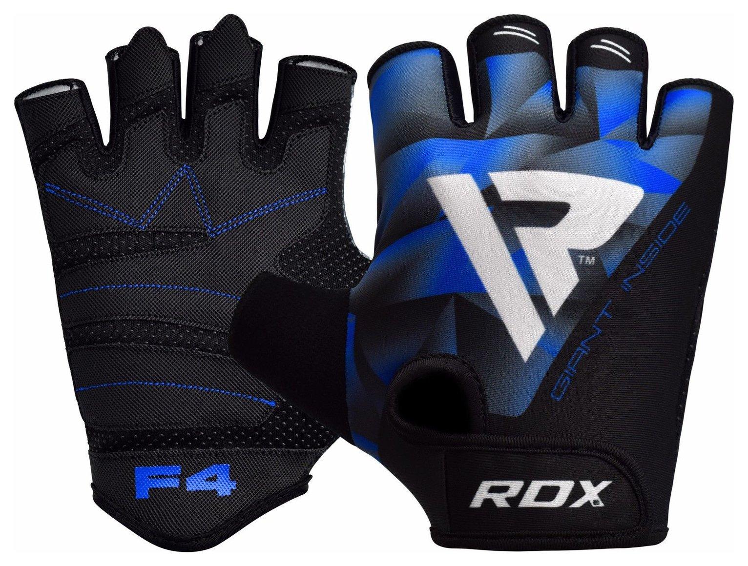 RDX Large/Extra Large Weight Lifting Gloves - Blue