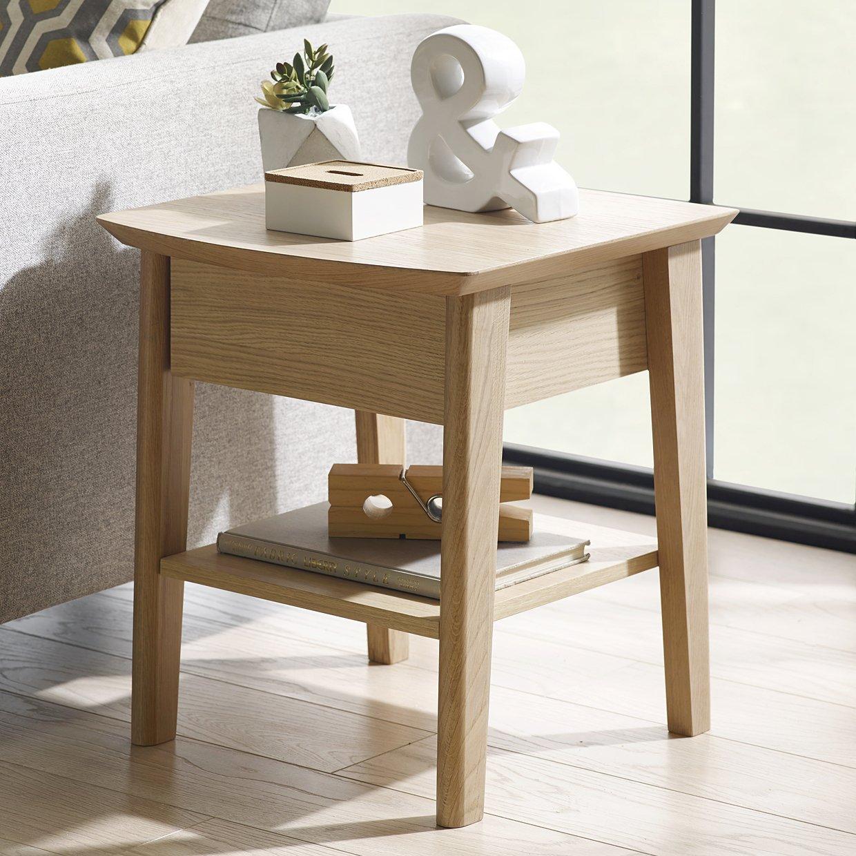 Image of Calcott Bedside Table - Oak