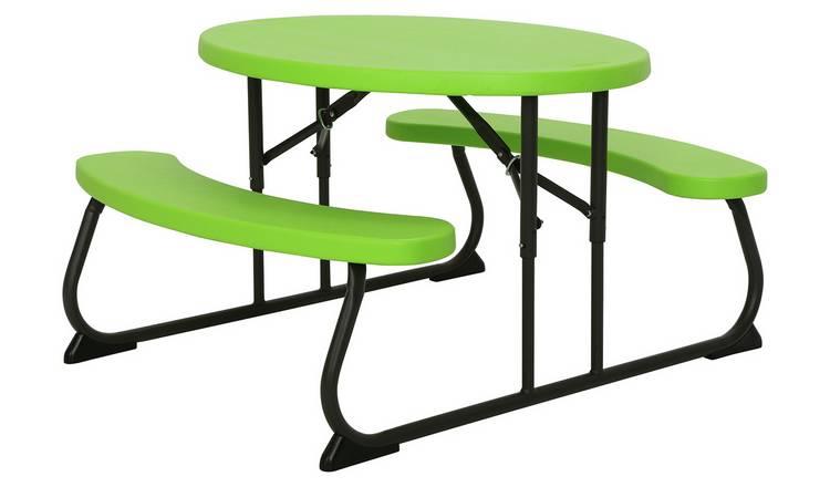 070cdb651b1 Buy Lifetime Children's Oval 4 Seater Picnic Table - Green | Garden ...